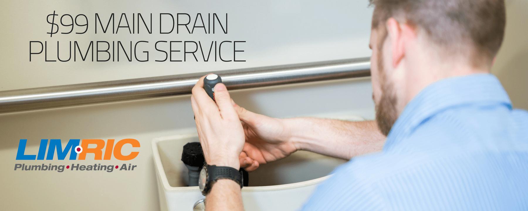 $99 Main Drain Plumbing Service